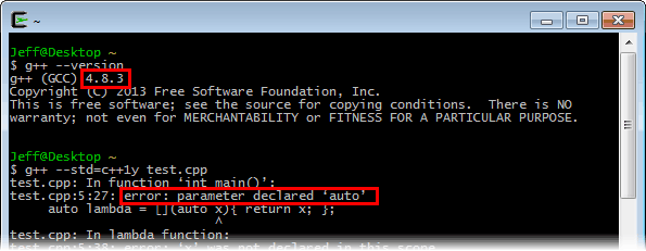 compiler executable file cannot be found