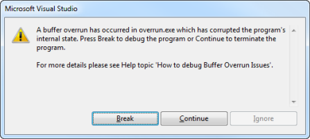 The Cost of Buffer Security Checks in Visual C++